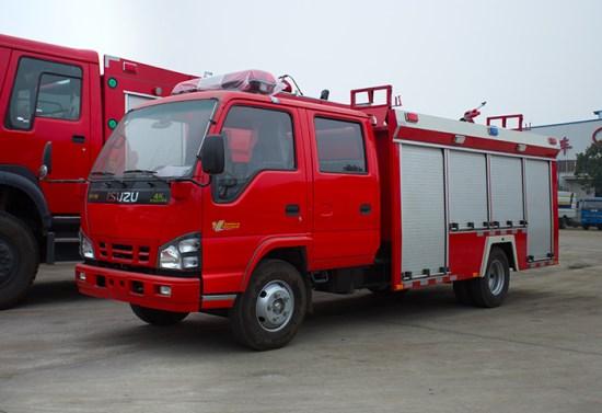 庆铃2吨水罐消防车